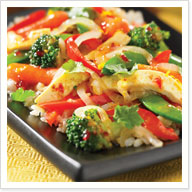 Sweet Chili Tofu Stir Fry