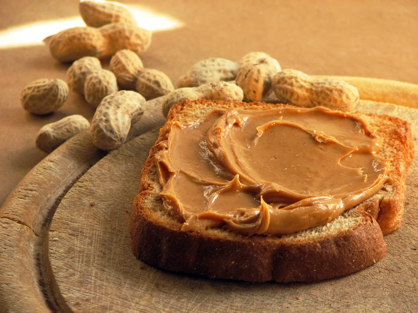 peanuts, peanut butter, peanut butter on toast