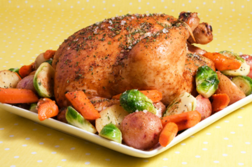 roasted chicken, chicken, poultry