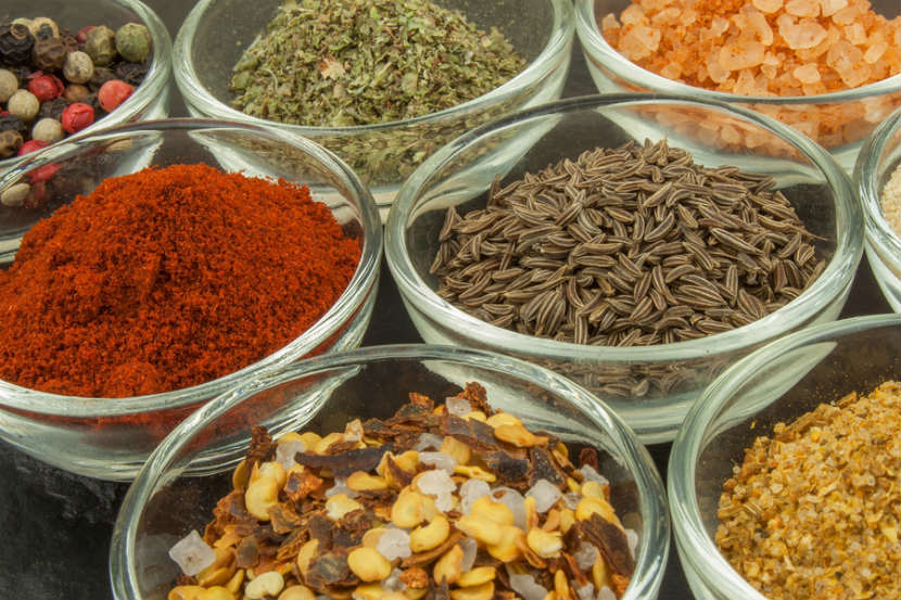 spices, cooking spices, peppercorns, fennel, cayenne pepper