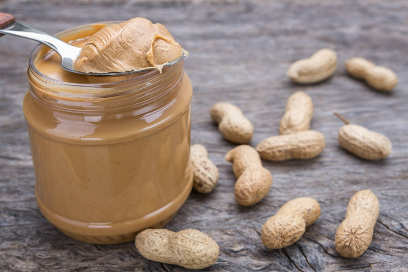 spoonful of smooth peanut butter