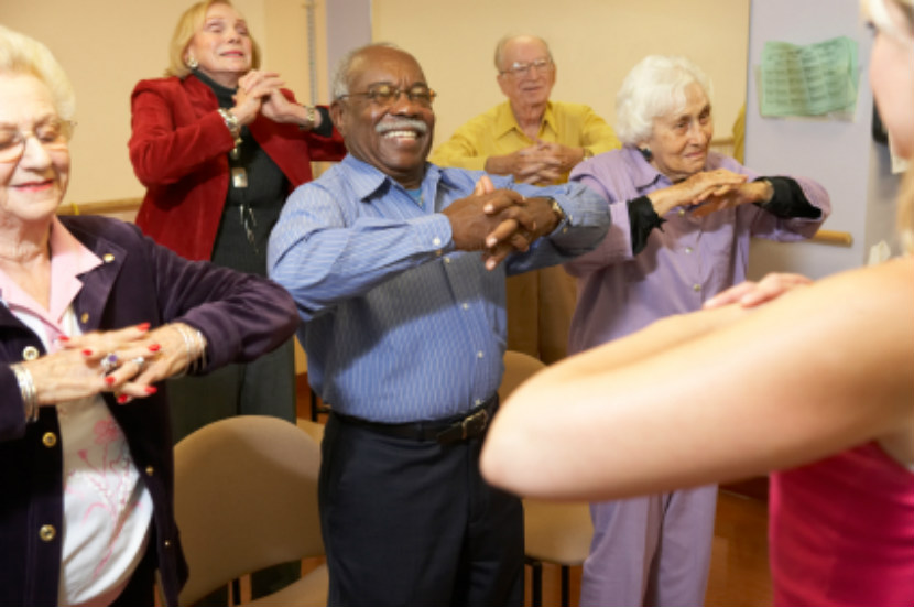 seniors, exercising, physical activity