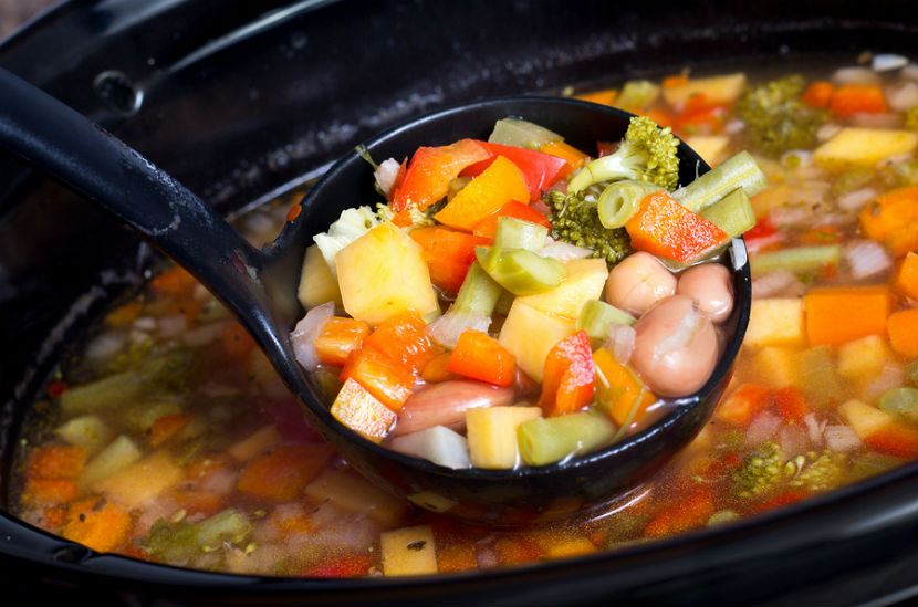 slow cooker, easy slow cooker soup or stew