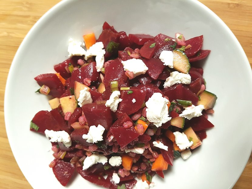 beet salad recipe, beet and barley salad recipe