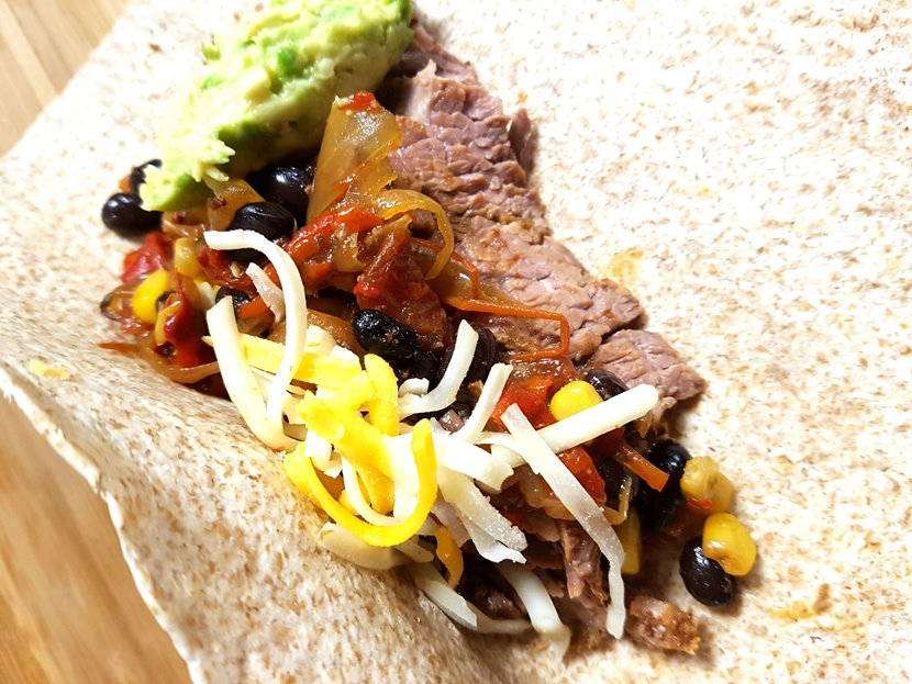 burrito, steak, Mexican, dinner, meal, recipe