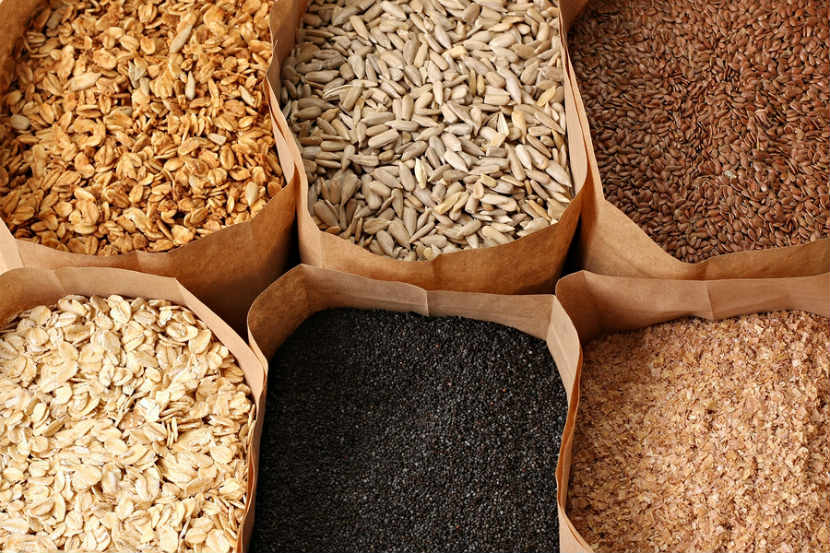 whole grain, poppy, flax, granola, wheat germ, sunflower seeds