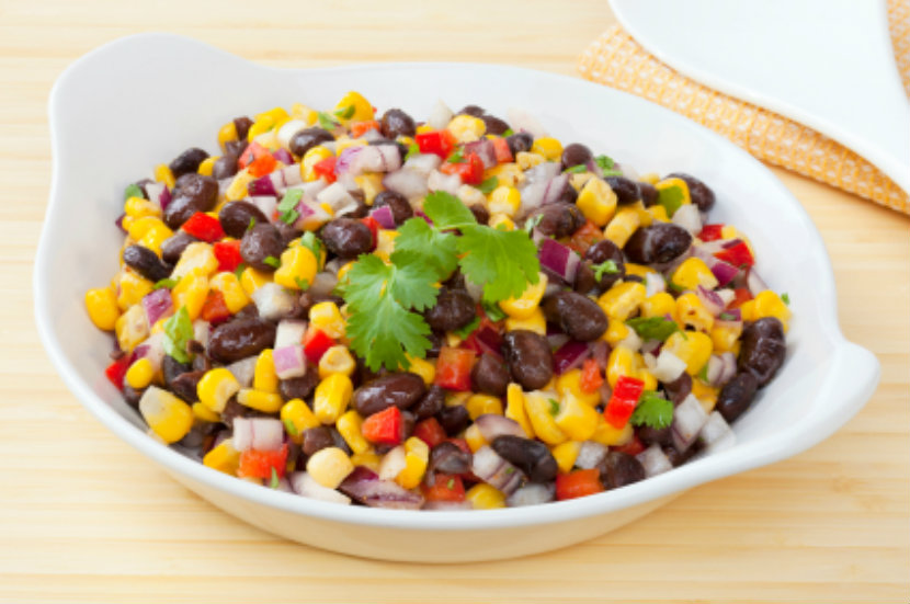 bowl of bean salad