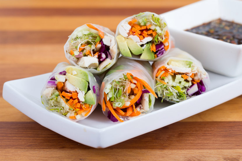 rice paper vegetable wraps