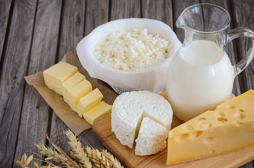 different types of cheese and milk
