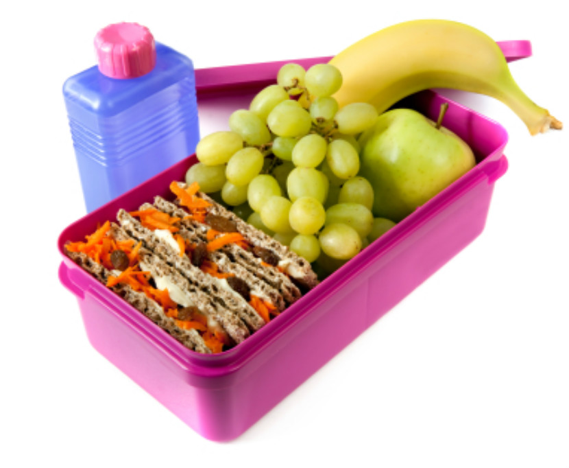 school lunch packed in a lunch container