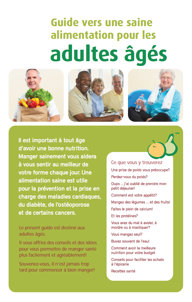 cover of the healthy eating for older adults guide