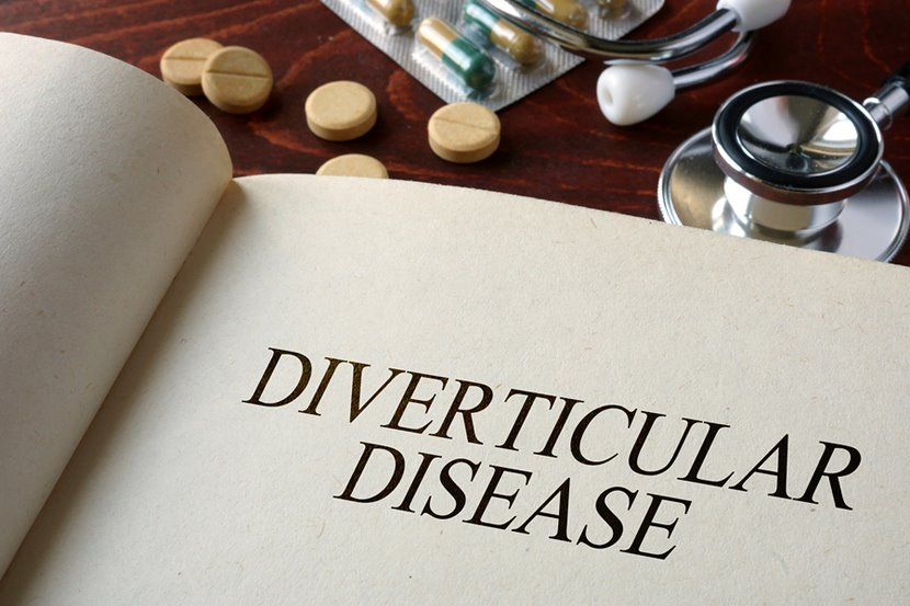 book with diverticular disease written on it